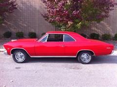 A 1966 Chevrolet Malibu Coupe 2-Door