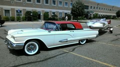 A 1959 Ford Thunderbird With matching Lone Star Boat