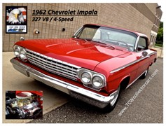 A 1962 Chevrolet Impala 2 Dr. Coupe