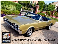 A 1967 Oldsmobile Cutlass - 442 Clone Convertible
