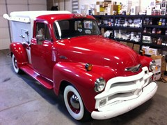 A 1954 Chevrolet Ice Cream Pick up Truck