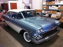 A 1958 Chevrolet Biscayne Coupe