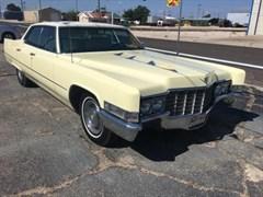 A 1969 Cadillac Sedan Deville